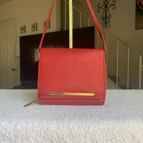 Red Leather Vince Camuto Anika Crossbody
